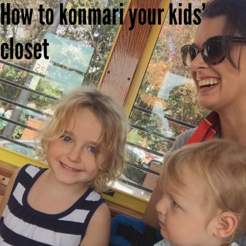 How to konmari your kids' closet