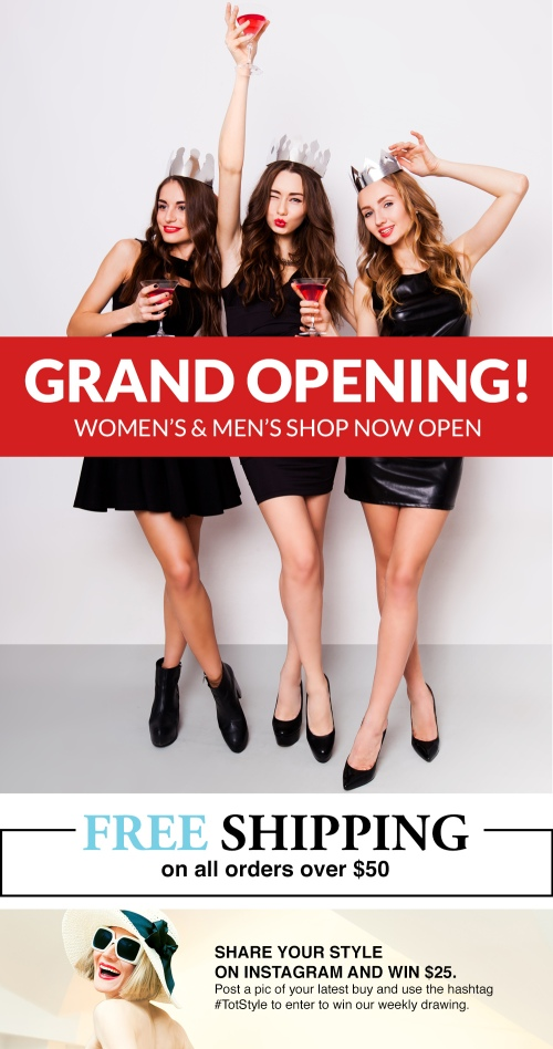 Totspot Grand Opening of our Women's and Men's Shop!